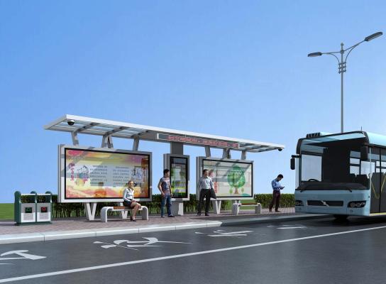 现代公交候车站台
