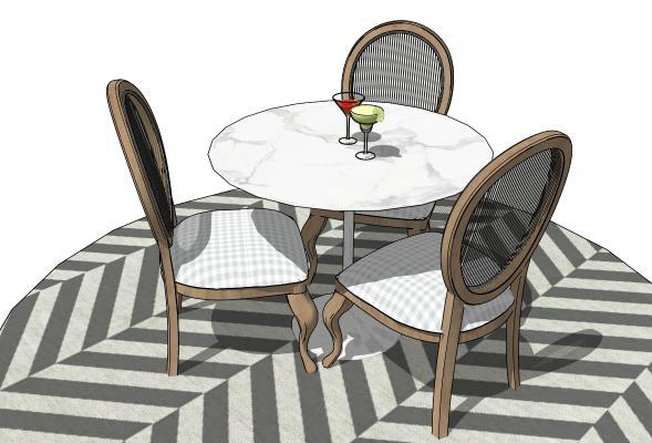 现代圆桌椅组合