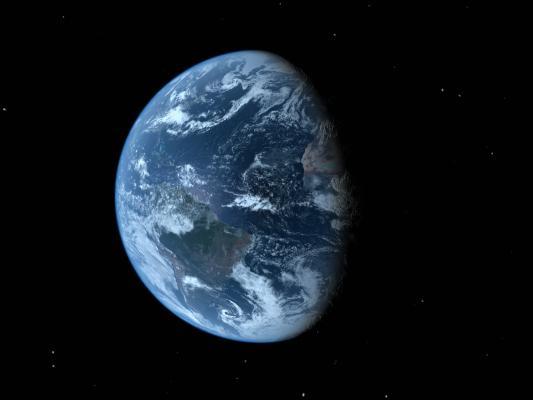 现代地球鸟瞰 星球 球