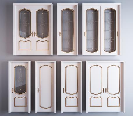简欧烤漆房门 移门 推拉门组合 烤漆门 玻璃门