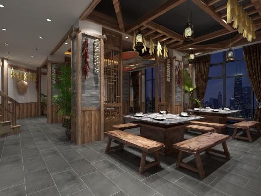 中式火锅店