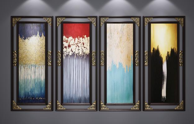 新中式装饰挂画 艺术画 山水画