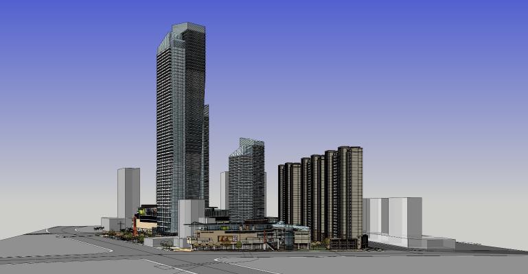 现代风格商业中心 住宅 商业 商业街