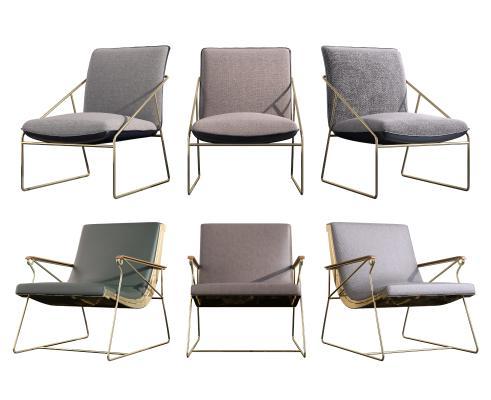 现代椅子组合 现代单椅 现代餐台椅