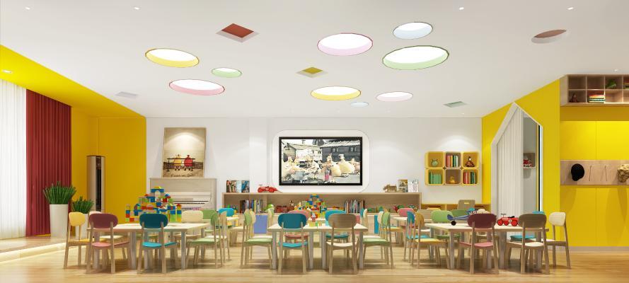 現代幼儿园 儿童桌椅
