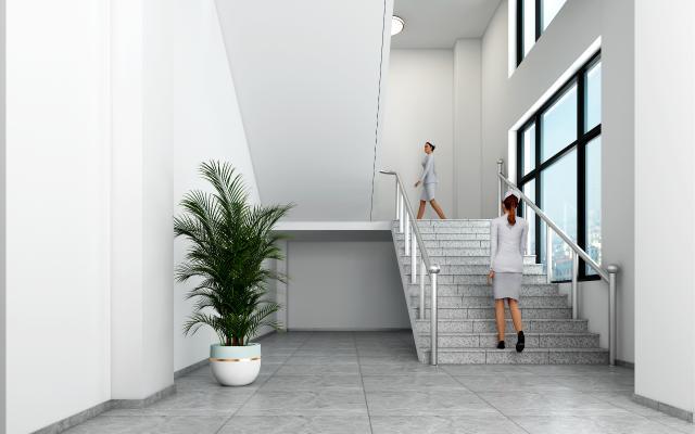 现代风格医院楼梯