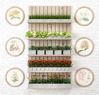 现代花架 墙饰 壁饰