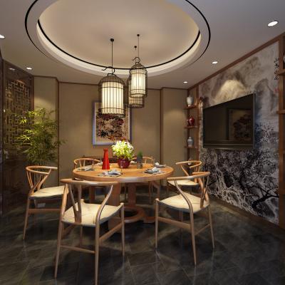 新中式餐厅包厢