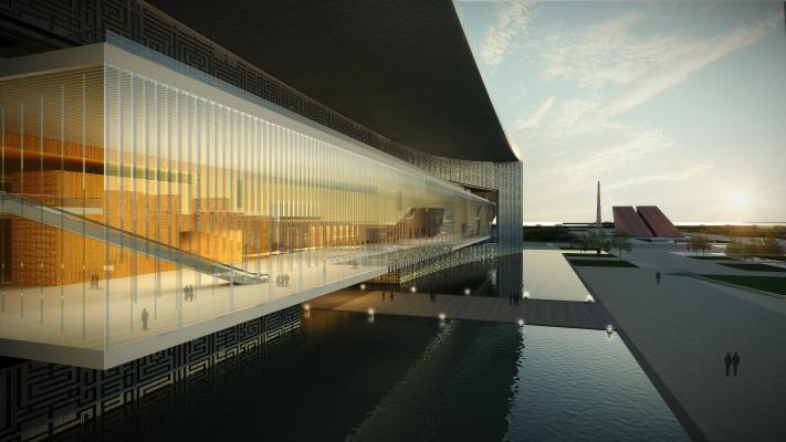 现代展览馆 博物馆 大型体育建筑