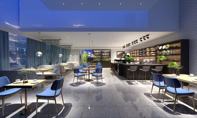 现代风格咖啡厅 会议室