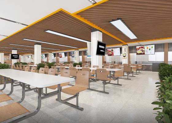 现代学校餐厅 食堂