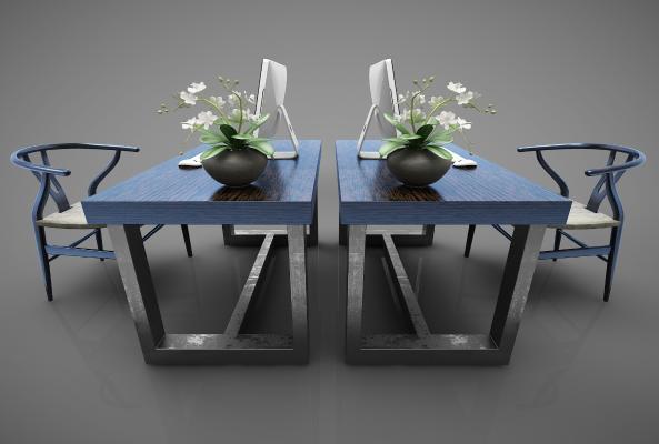 新中式风格办公桌