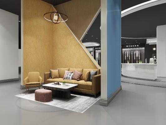 工业风展厅 服装 沙发