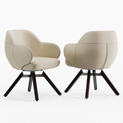 现代皮革单椅 休闲椅 餐椅