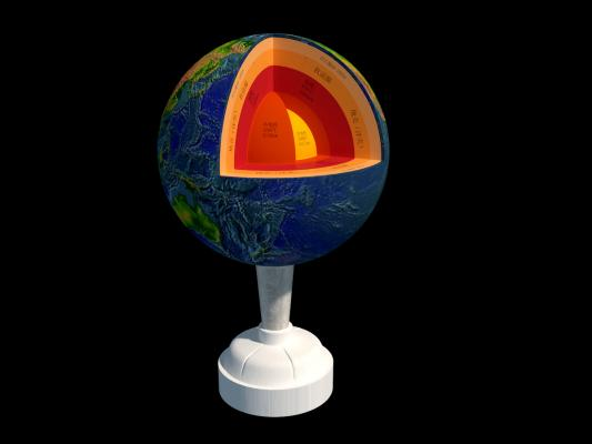 地球内部构造 地球 地壳 地球层