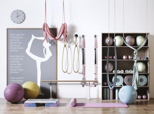 现代瑜伽设备合集 瑜伽绳牵引绳 瑜伽球 瑜伽毯