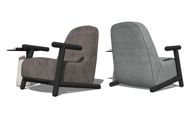 现代休闲椅 边几