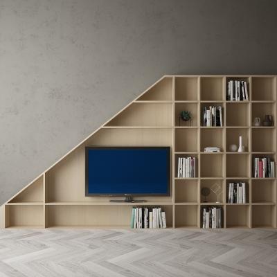 现代电视机背景墙