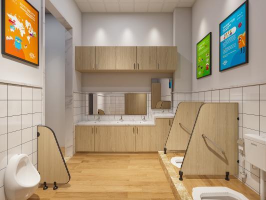 工业风幼儿园卫生间