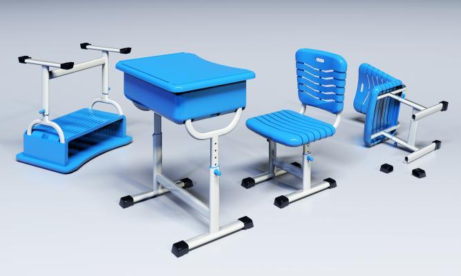现代小学中学高中课桌椅组合 升降课桌椅