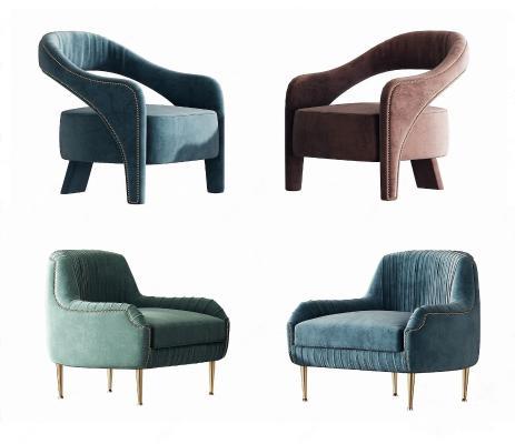 现代轻奢单人沙发椅