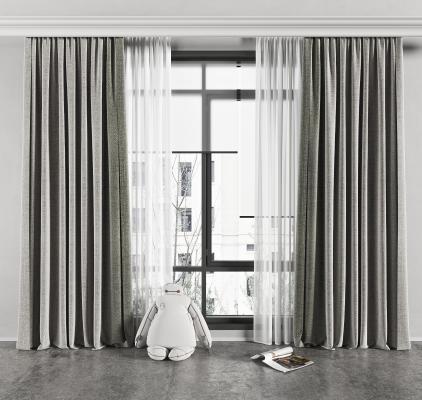 现代窗帘 百叶帘 纱帘