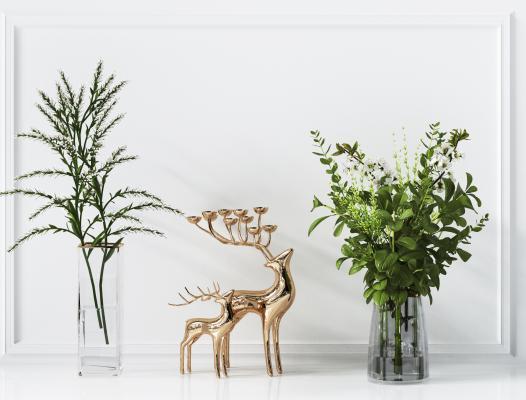 现代植物 轻奢摆件