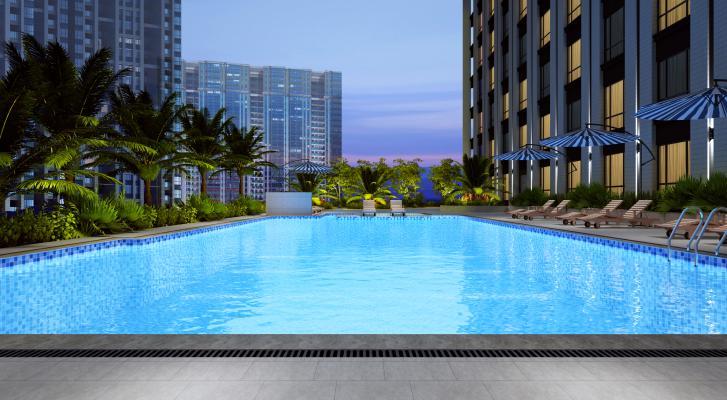 现代户外泳池 室外泳池