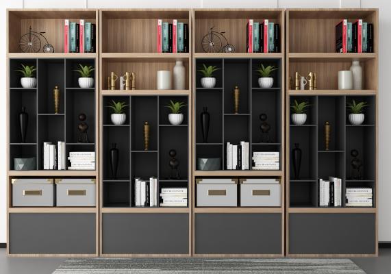 现代书柜 装饰