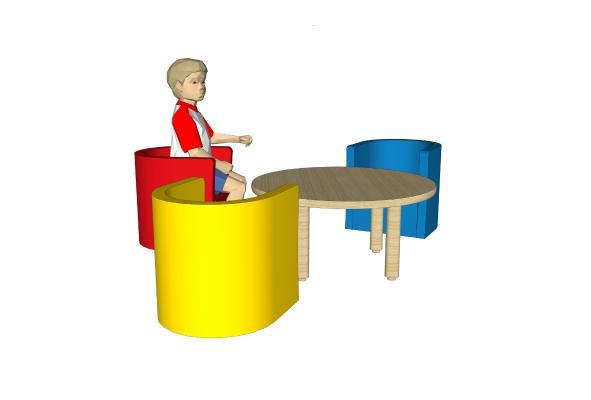 现代儿童椅子桌子