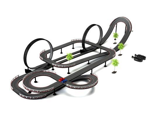 游乐场儿童轨道玩具车