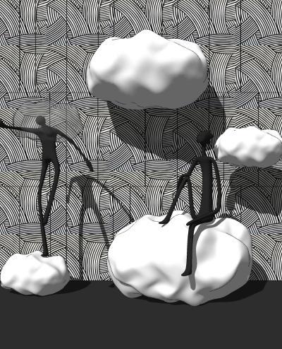 现代抽象人物云雕塑 摆件