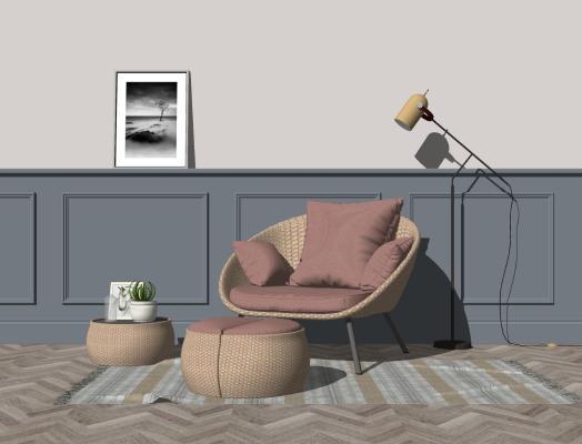 北欧风格休闲椅 藤椅