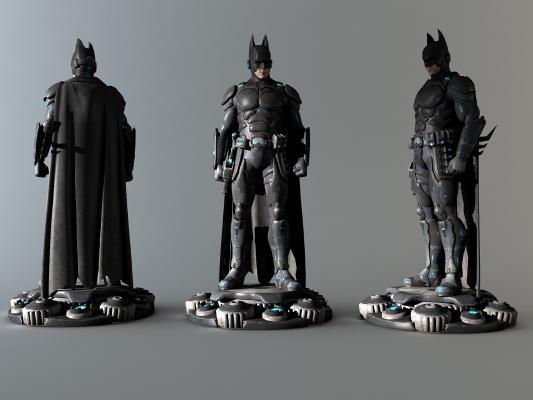 现代蝙蝠侠手办玩具