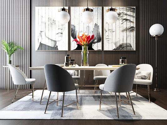 北欧餐厅 餐桌 餐桌椅