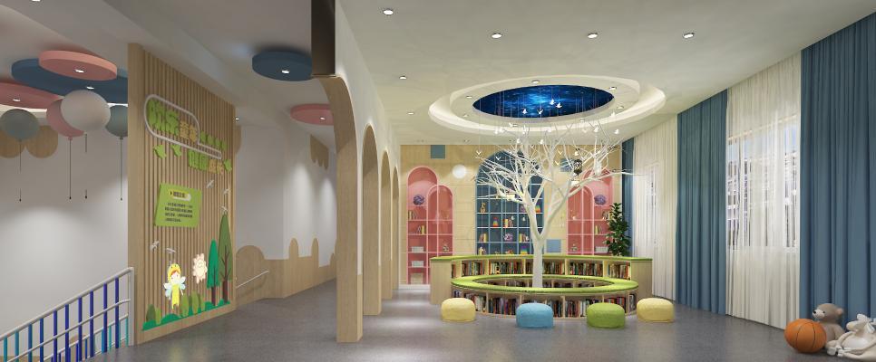 北欧学校图书馆 阅览室 活动室