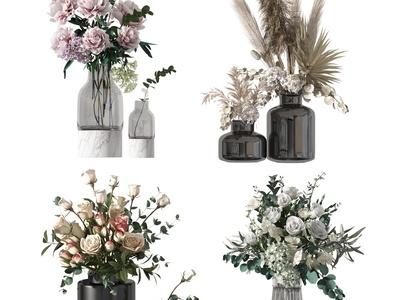 现代花卉 花瓶 花艺