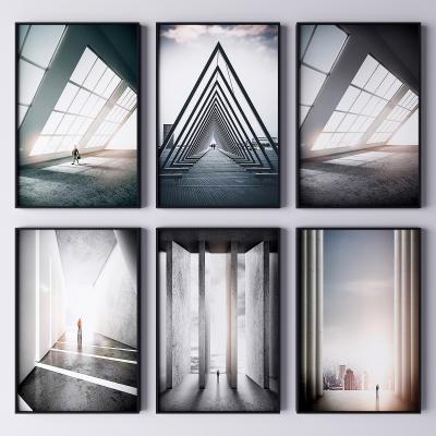 现代建筑艺术装饰挂画 抽象画 艺术画