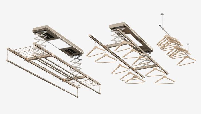 现代阳台晾衣架组合