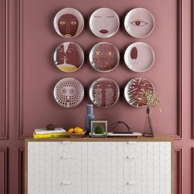 新中式盘子墙饰 摆件组合
