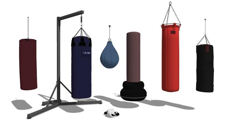 现代沙袋 健身器材 拳击沙袋