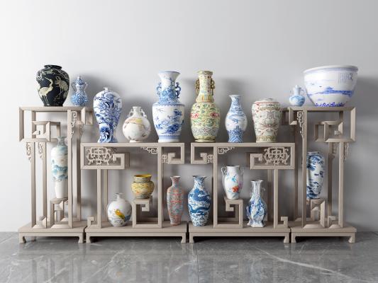 中式瓷器 花瓶