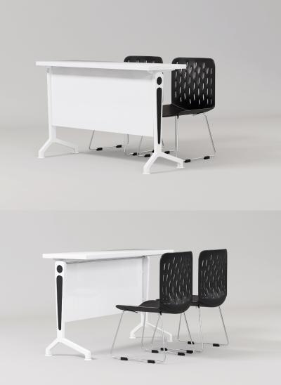 现代培训桌 办公桌 椅子