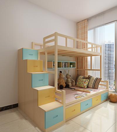 现代儿童双层床 实木床