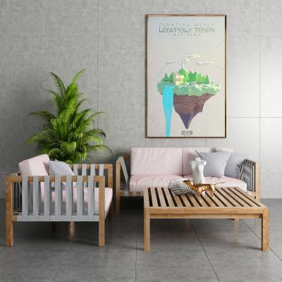 现代户外休闲椅 茶几饰品组合