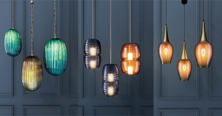 现代彩色玻璃吊灯