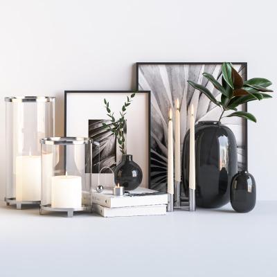 现代装饰品 蜡烛 装饰画