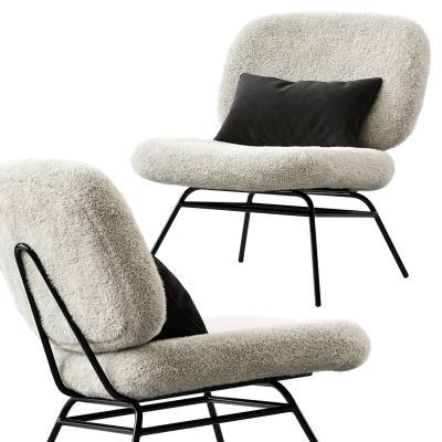 现代绒毛休闲椅 毛发椅子