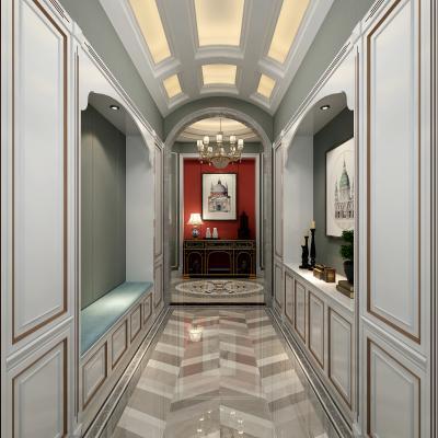 美式門廳 玄關柜 過道