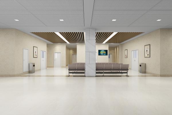现代医院 等候区 妇科门诊